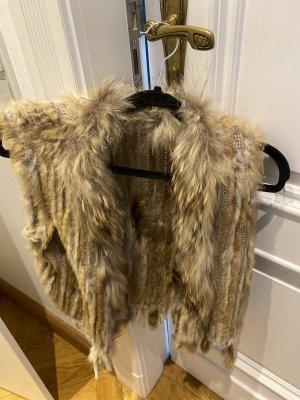Fur vest light brown pelt