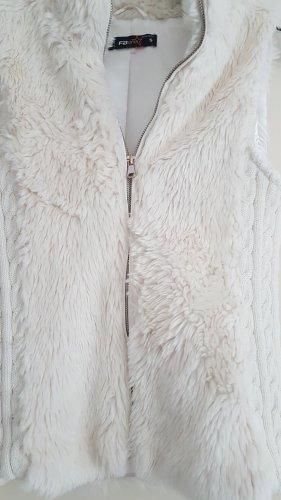 New Yorker Fur vest white-natural white