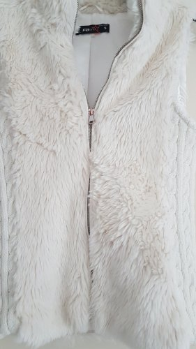 New Yorker Fur vest natural white-oatmeal
