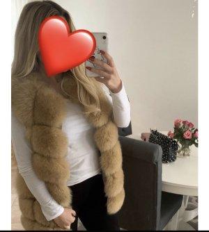 Fur vest beige
