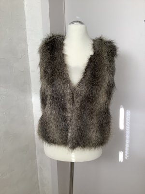 Alba Moda Fake Fur Vest multicolored polyacrylic