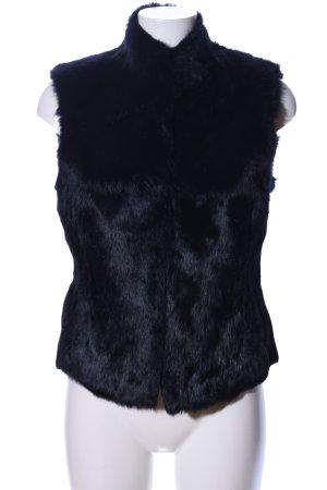 Fur vest black extravagant style