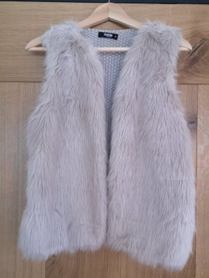 Colloseum Fake Fur Vest beige