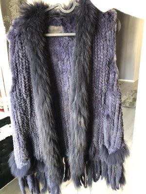 Milestone Fur vest dark blue