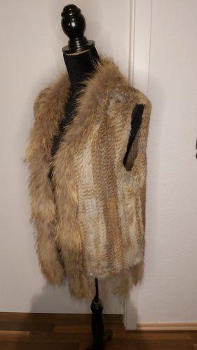 White Label Smanicato di pelliccia marrone chiaro-beige