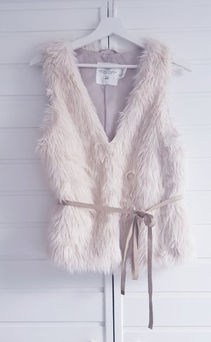 H&M Fake Fur Vest multicolored
