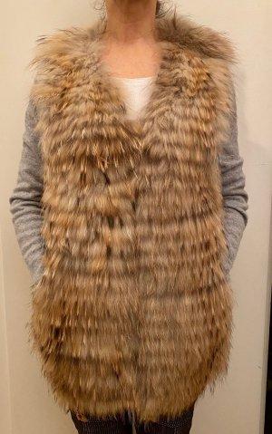 We Love Furs Gilet en fourrure multicolore pelage