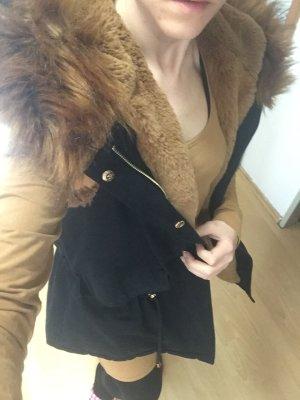 Fur vest black-brown