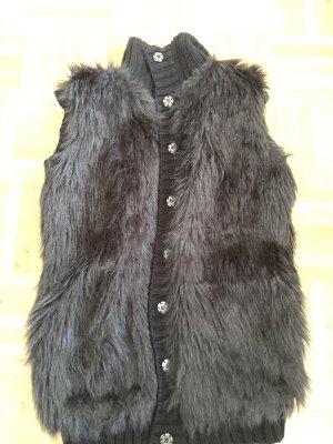 C&A Fur vest black