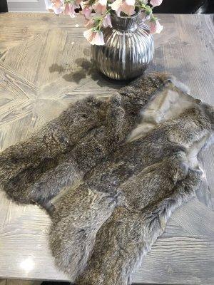 Closed Fur vest light brown-grey brown