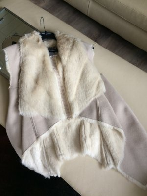 Bandolera Fur vest natural white-cream