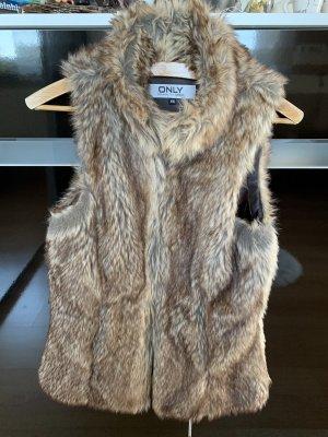 Only Smanicato di pelliccia bronzo-marrone chiaro