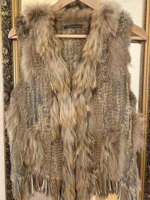 Kennel & Schmenger Fur vest brown-grey brown
