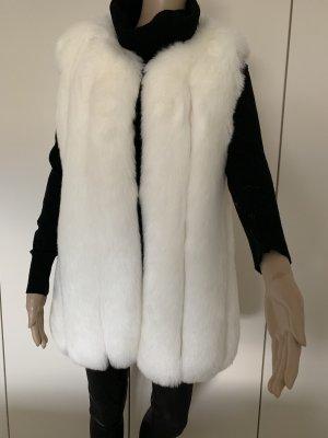 Fur vest white