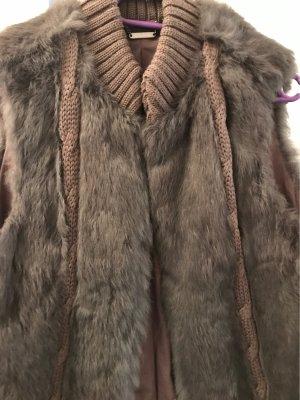 Set Smanicato di pelliccia grigio