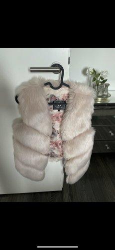 Fur vest light pink-pink