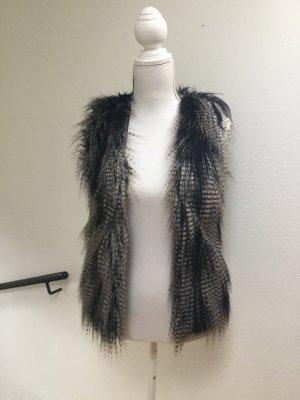 H&M Fur vest multicolored