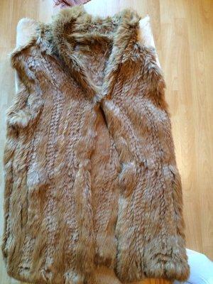 Hallhuber Donna Fur vest multicolored
