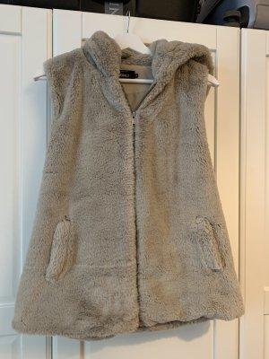 Only Fur vest light brown-beige
