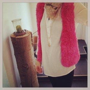 Fur vest multicolored fur