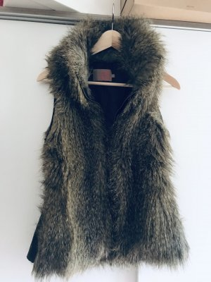 Saint Tropez Fake Fur Vest brown-beige