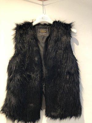 Fresh made Fur vest black