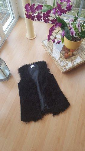 AJC Fur vest black