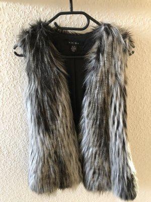 Amisu Fur vest multicolored