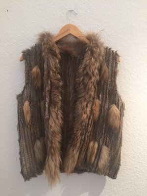 Ludwig Beck Munich Fur vest light brown-brown