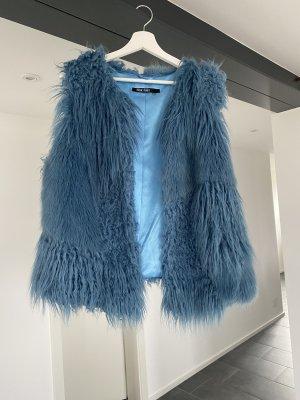 Marc Aurel Fur vest blue