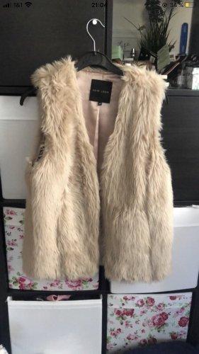 New Look Fur vest beige-camel
