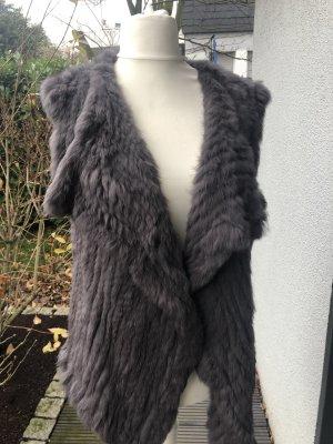 Oakwood Fur vest grey lilac