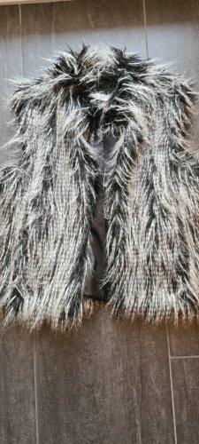 Tuzzi Chaleco de piel blanco-negro Poliéster