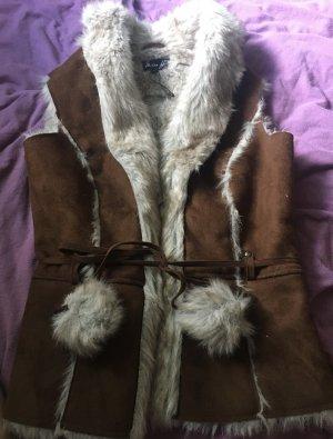 Miss H. Fur vest bronze-colored-camel pelt