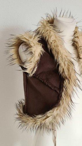 Melrose Fake Fur Vest brown polyacrylic