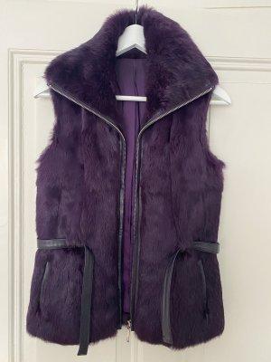 Fur vest lilac-dark violet