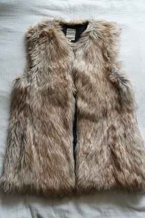 Zara Fake Fur Vest multicolored