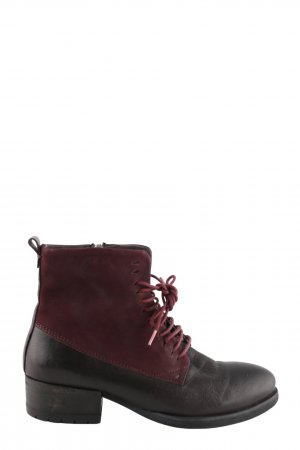 Felmini Reißverschluss-Stiefeletten schwarz-rot Casual-Look