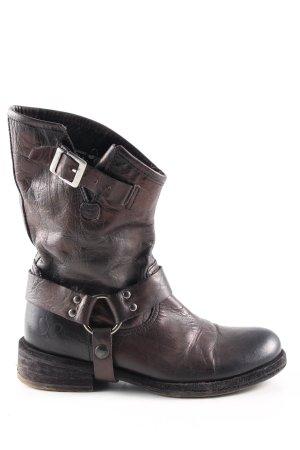 Felmini Botines estilo vaquero negro-marrón look casual