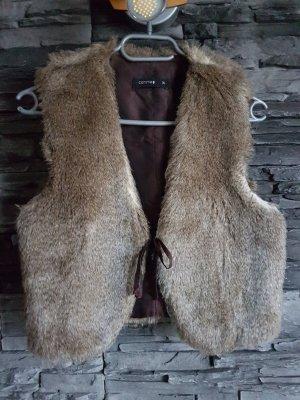 Comma Fur vest beige
