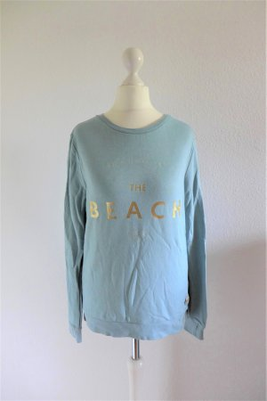 Femi Stories Sweater Sweatshirt hellblau türkis gold The Beach Gr. S 36 38