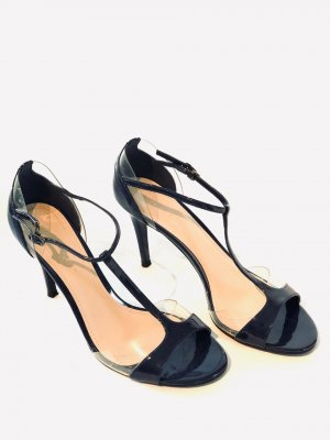 Charles & Keith T-Strap Sandals dark blue