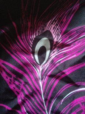 femininer Badeanzug mit Pfauenfederdruck D36 Cup B/C