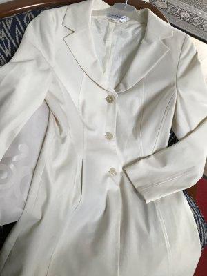 Singh Madan Geklede jas wolwit-licht beige Viscose