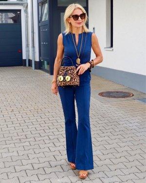 Tailleur pantalone blu acciaio Tessuto misto