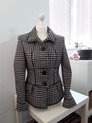 Strenesse Blazer en laine blanc-noir laine vierge