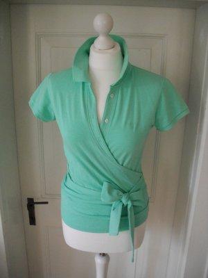 Feminines Poloshirt zum Wickeln Baumwolle Gant NEU