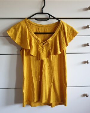 H&M Frill Top yellow