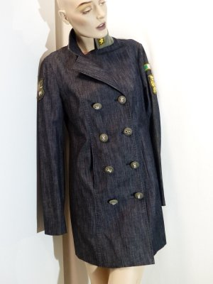 Femme by Michele Rossi Heavy Pea Coat multicolored cotton