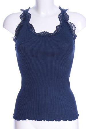 Femme Seven Seidentop blau Business-Look